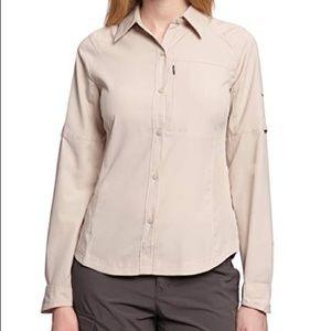 Colombia Woman Silver Ridge Shirt Size Small